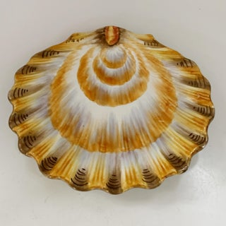 Italian Majolica Salad Plates Shell Shape Set of 4 Preview