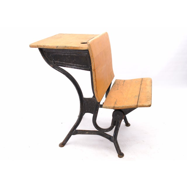 Early American American Seating Antique School Desk For Sale - Image 3 of 10 - American Seating Antique School Desk Chairish