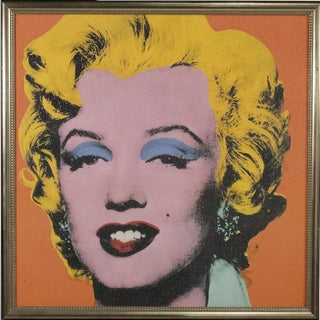 1970s Vintage Marilyn Monroe After Andy Warhol Framed Print For Sale