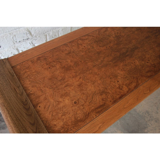 Beautiful Burled Altar Table by Baker For Sale - Image 9 of 11