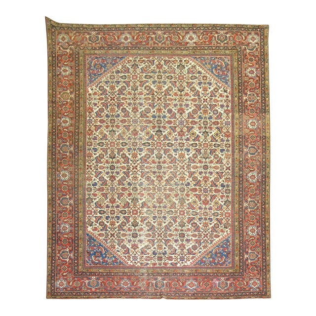 Mahal Sultanabad Rug. 10'8'' X 14'2''. For Sale