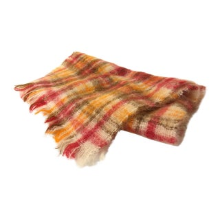 Vintage Mohair Scottish Throw For Sale