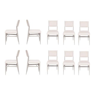 Set of 10 Maze Lacquered Dining Chairs For Sale