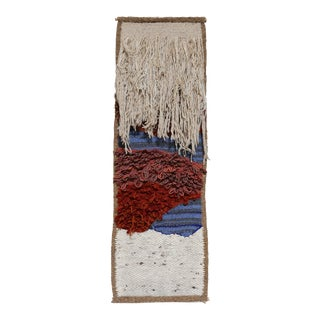 1970s Sculptural Fiber Art Wall Hanging For Sale