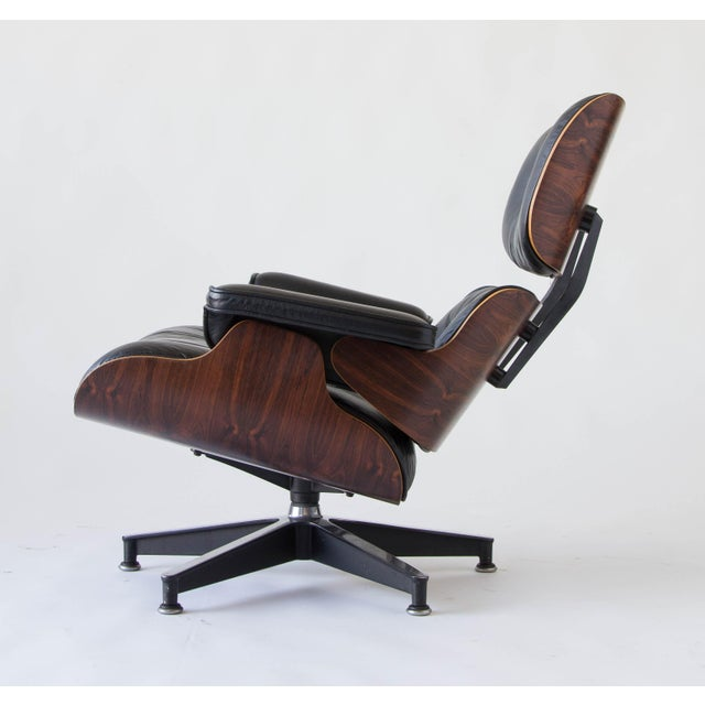 Vintage Eames Lounge Chair With Ottoman - Image 6 of 9