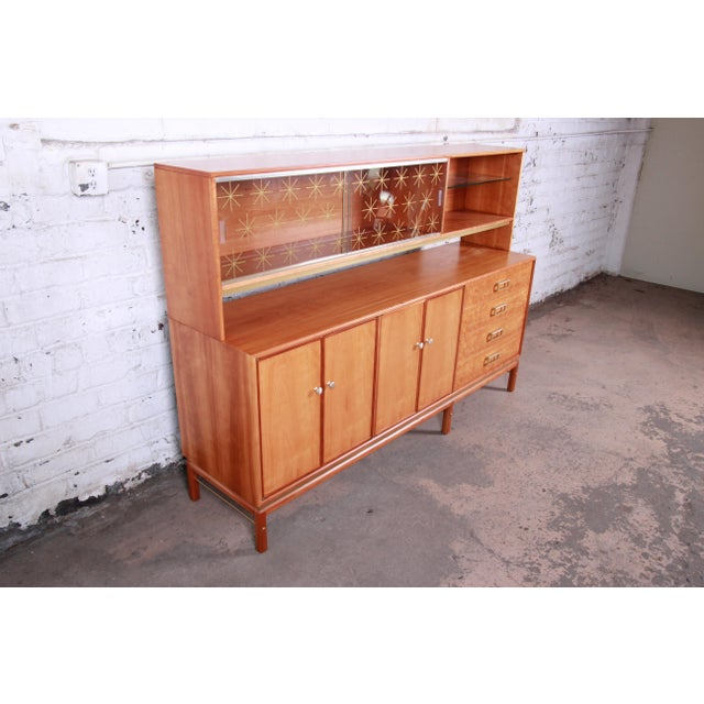 Danish Modern Kipp Stewart for Drexel Sun Coast Cherry Wood Sideboard Credenza, 1959 For Sale - Image 3 of 13