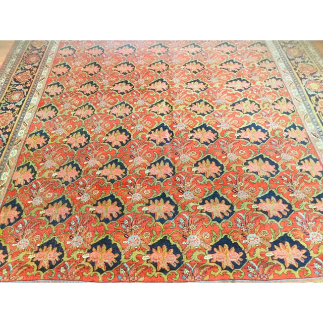 "Textile 1920's Persian Bijar Rug-9'1'x12"" For Sale - Image 7 of 10"