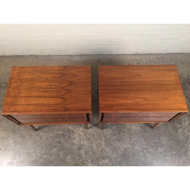 Thomasville Mid-Century Danish Modern Nightstands - a Pair - Image 6 of 7