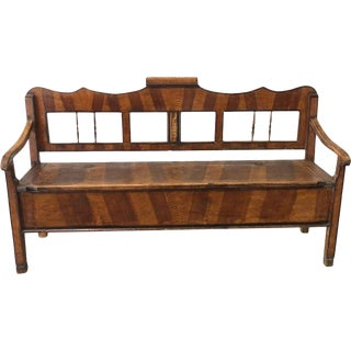 Rustic Antique Hall Bench Castle Bench With Storage