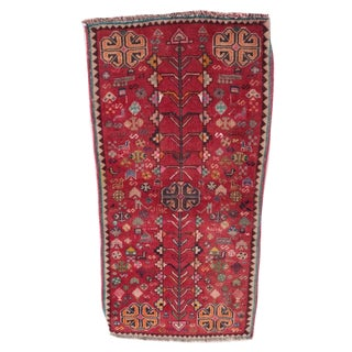 Hand-Knotted Persian Qashqai Accent Rug - 1′6″ × 3′4″