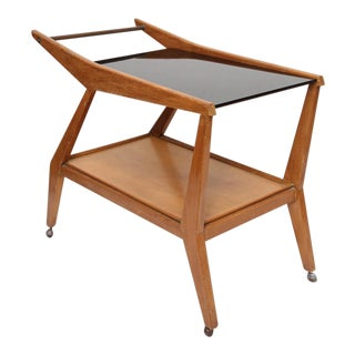 Tilly Stickell Mid-Century Modern Bar Cart For Sale