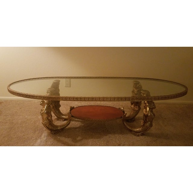 Metal Vintage Mermaid Coffee Table Hollywood Regency For Sale - Image 7 of 7