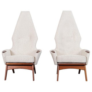 Vintage High Back Lounge Chairs by Adrian Pearsall For Sale