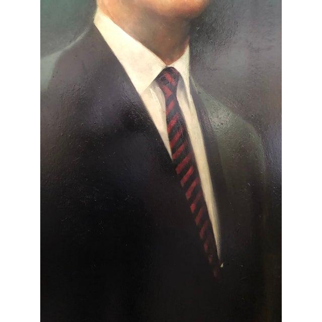 Black XL Portrait by M Runci Dated 1965 For Sale - Image 8 of 9