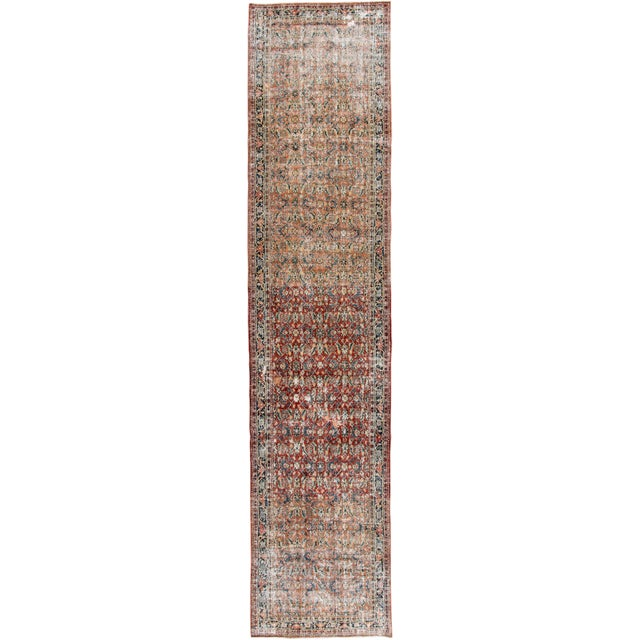 """Vintage Persian Distressed Rug, 4'3"""" X 19'7"""" For Sale - Image 12 of 12"""
