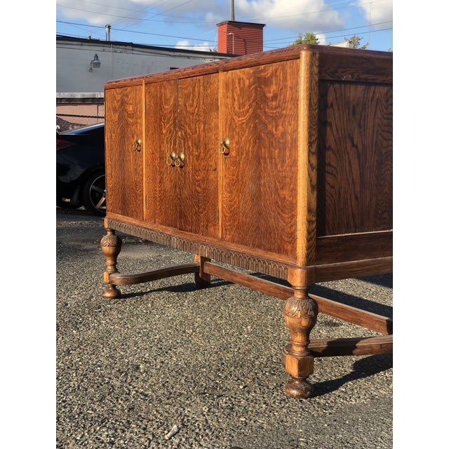 19th Century English Welsh Oak Sideboard For Sale In Seattle - Image 6 of 9