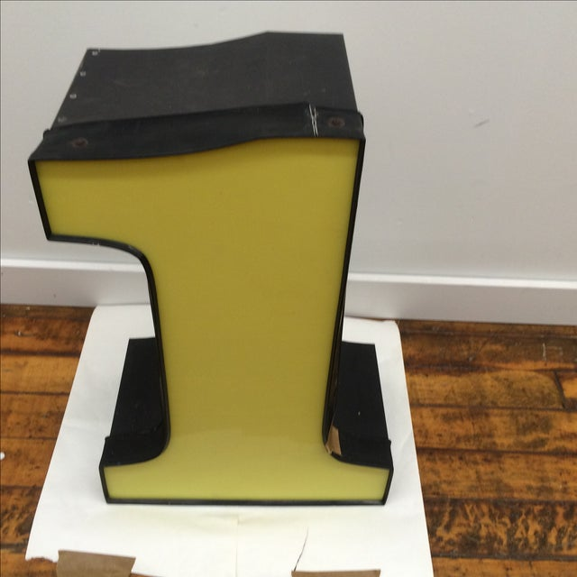 """Yellow Number """"1"""" Signage - Image 2 of 8"""