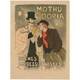1896 Original French Art Nouveau Poster, Maitres De l'Affiche (Plate 46) - Mothu Et Doria Pl46 - Steinlen For Sale