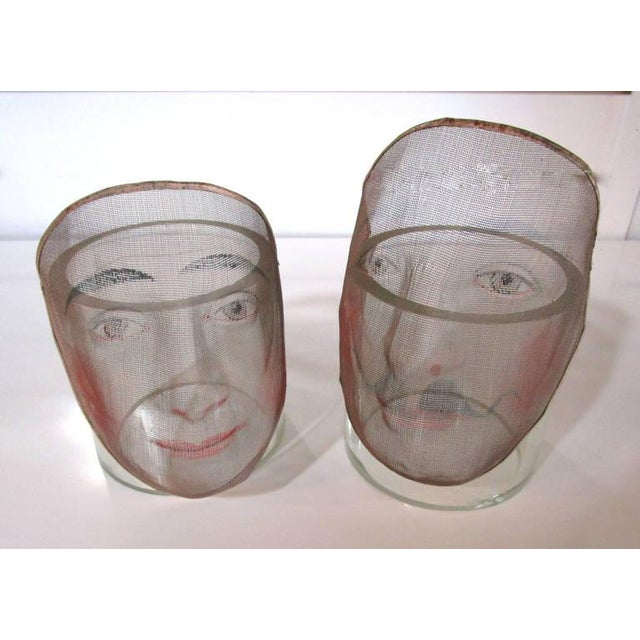 Early 1900's French Pantomime Masks - Pair - Image 9 of 10