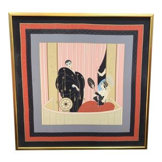 1980s Framed L'Opera Erte Scarf Print For Sale