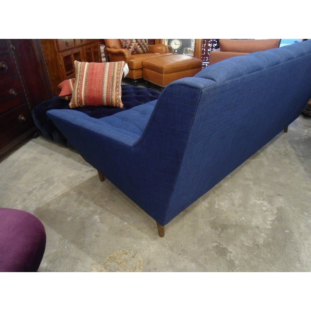 Dark Blue Tufted Cleveland Sofa by Thrive Furnitures For Sale - Image 5 of 6