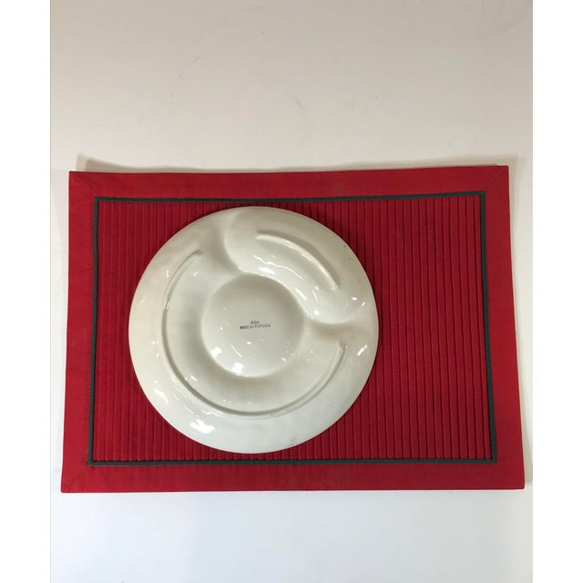 1970s Mid-Century White Portuguese Majolica Oyster/Shrimp Cocktail Plates - Set of 6 For Sale - Image 5 of 13
