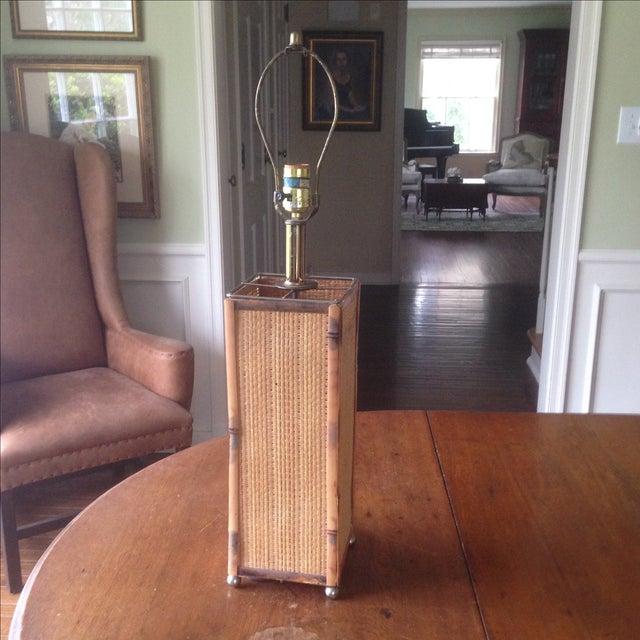 Vintage Rattan Table Lamp - Image 3 of 11