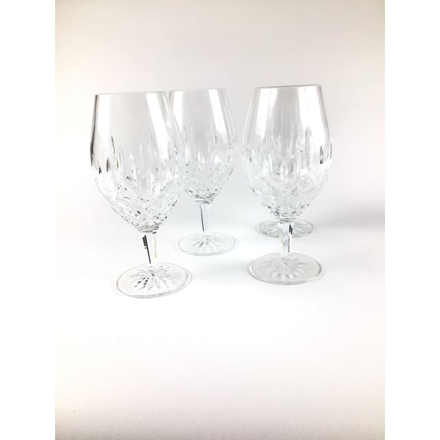 Set of 4 beautiful crystal goblets in mint condition.