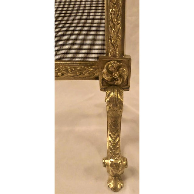 Antique French Louis XVI Bronze Firescreen, Circa 1880.