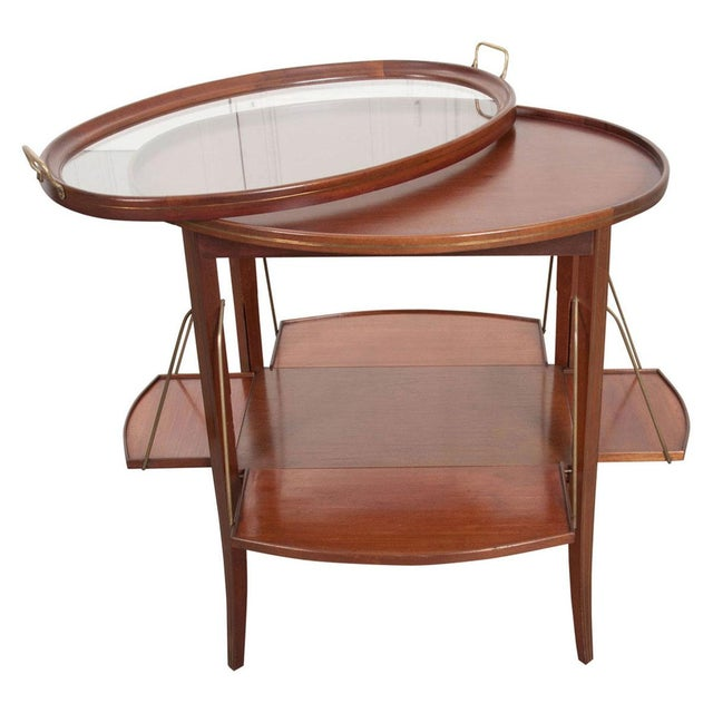 French Early 20th Century Oval Mahogany Tea Table For Sale - Image 13 of 13