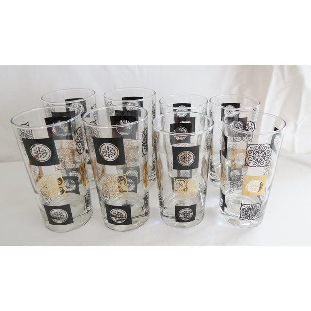 Mid-Century Modern Highball Glasses - Set of 8 - Image 3 of 7
