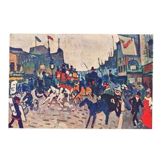 """1947 André Derain Original Period """"London Street"""" Lithograph For Sale"""