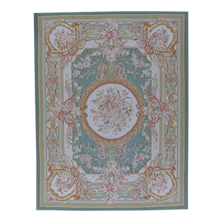 "Pasargad Aubusson Hand Woven Wool Rug - 8' 0"" X 10' 8"" For Sale"