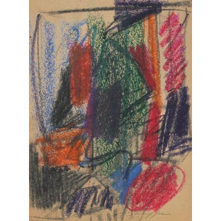 Gary Lee Shaffer Abstract Expressionist Study in Pastel, 1958 1958 For Sale