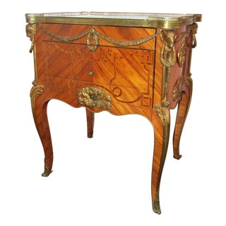 1920s Louis XVI Commode With Inlay For Sale