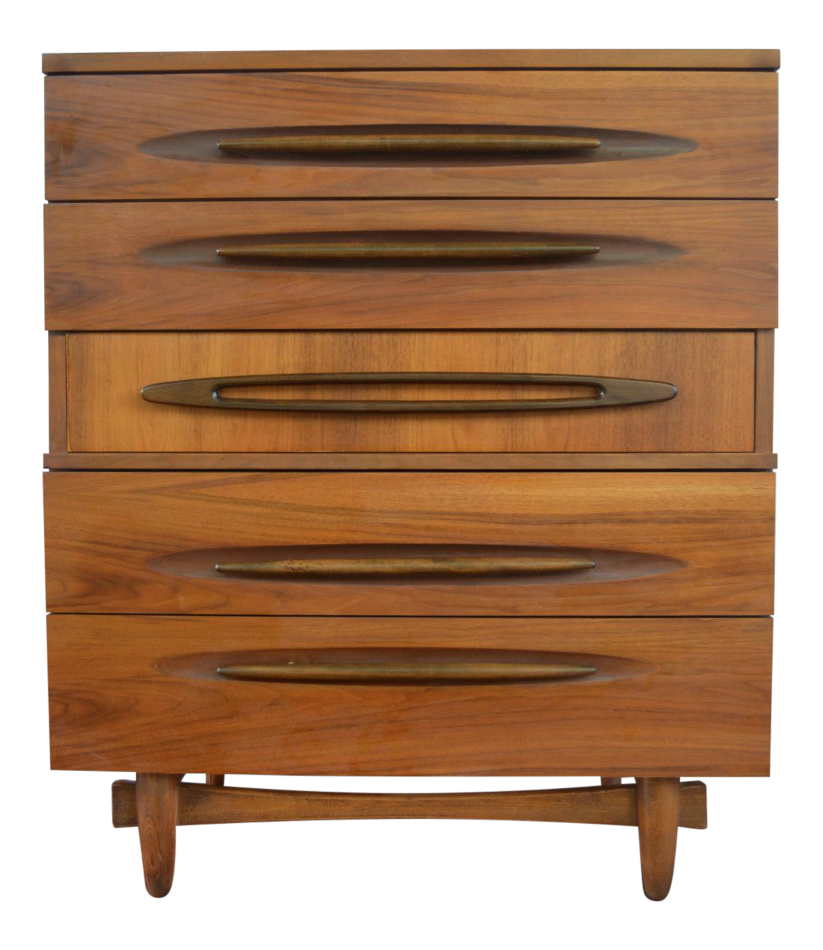 Ward Furniture Mid Century Modern Capsule Shapes Collection Tall Boy Dresser