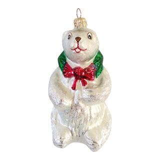 Christopher Radko Polar Bear Christmas Ornament