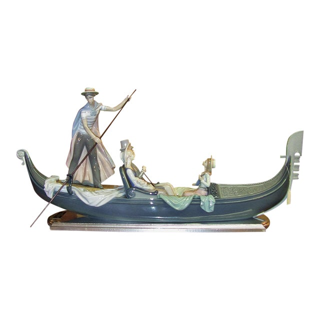 Lladro in the Gondola Signed by Catala and Ruiz For Sale