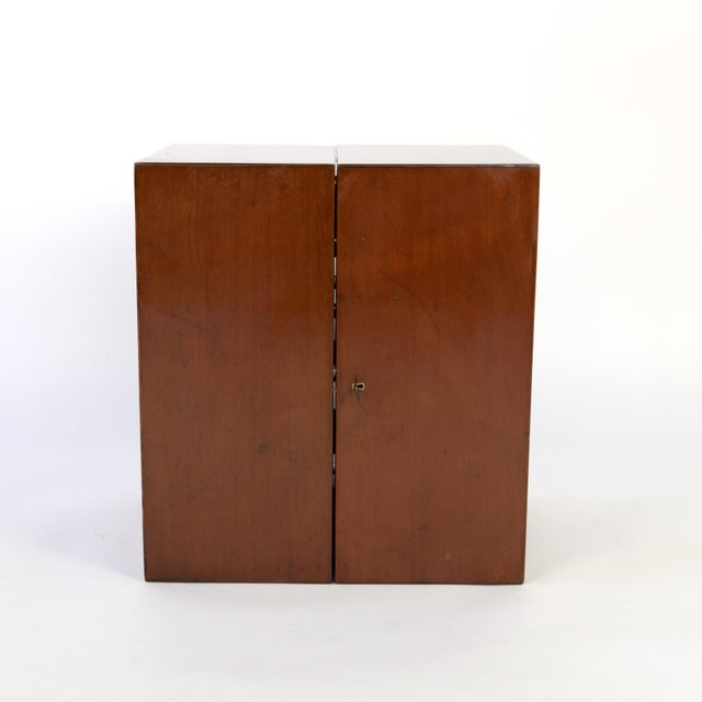 Campaign Style Solid Mahogany Apothecary Chest, Circa 1860 For Sale - Image 4 of 10