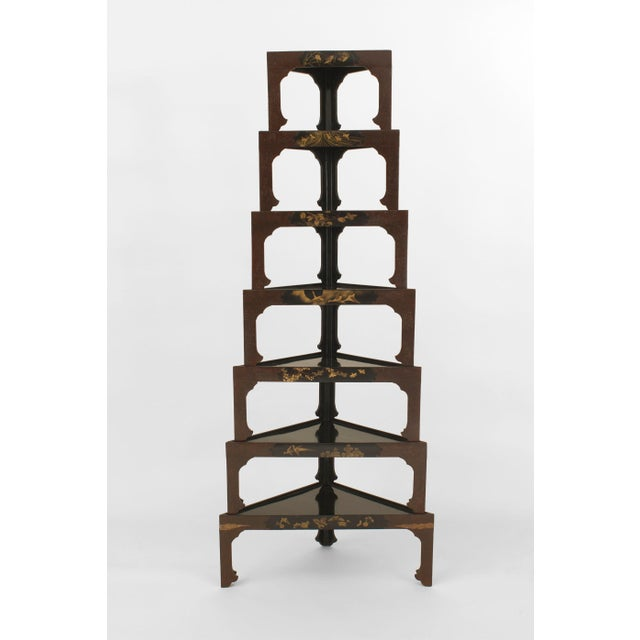 Mid 19th Century Asian Japanese Stacked Black Lacquered Tables- Set of 7 For Sale - Image 5 of 5