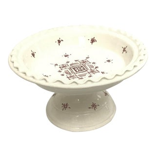 Moroccan Small Ceramic Serving Coupe Plate For Sale
