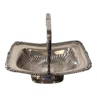 Antique Early 19th C Sheffield Silver-Plated Basket For Sale
