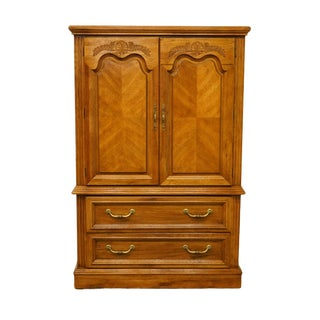 Late 20th Century Stanley Furniture Italian Provincial Armoire For Sale