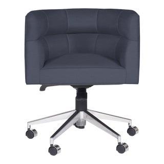 Casa Cosima Perry Desk Chair, Brisa Night Navy For Sale