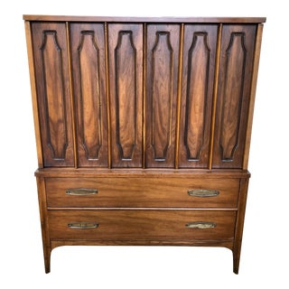 1950s Danish Modern Kent Coffey Highboy Dresser For Sale