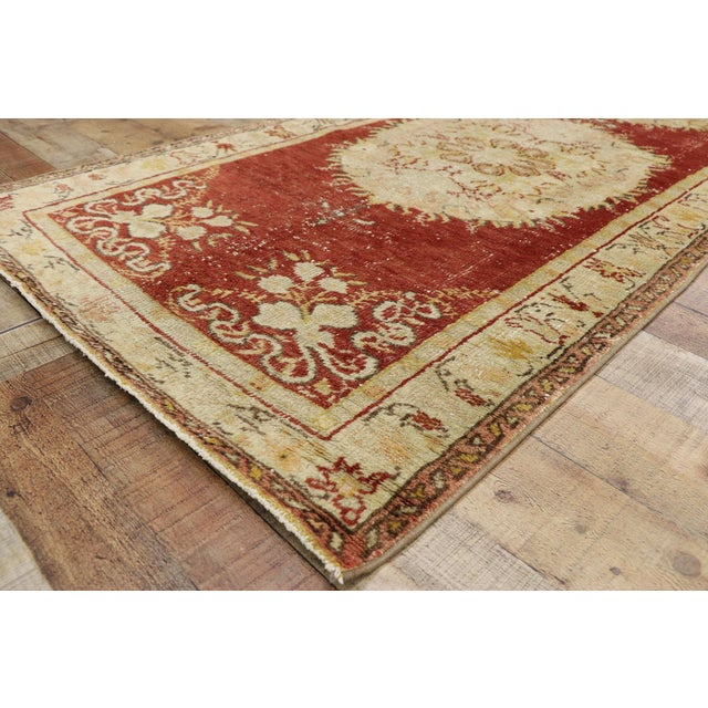 Vintage Turkish Oushak Runner - 03'03 X 11'05 For Sale In Dallas - Image 6 of 10