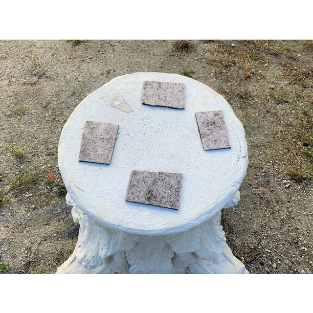1980s Vintage Architectural Corinthian Carved Stone Capital Table Base For Sale In West Palm - Image 6 of 8