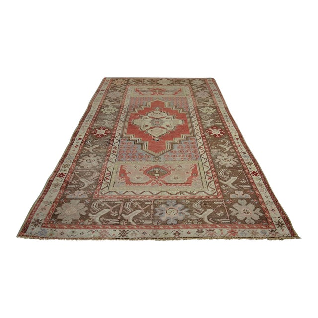 Turkish Vintage Oriental & Decorative Rug, 3'2″x5'3″ For Sale