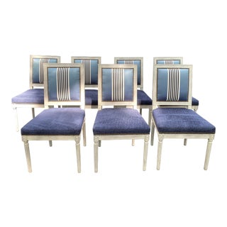 Set of Seven Dining Chairs by Bernhardt For Sale