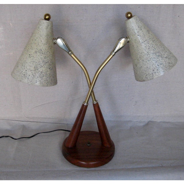 1960s Danish Modern Mid-Century Table Top Lamp or Desk Lamp For Sale - Image 10 of 10